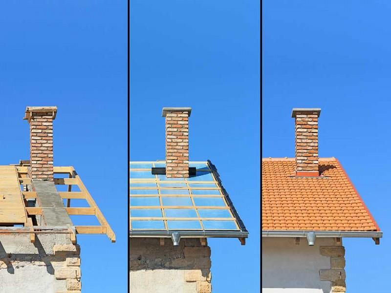 Realizzazione tettoia in legno lamellare